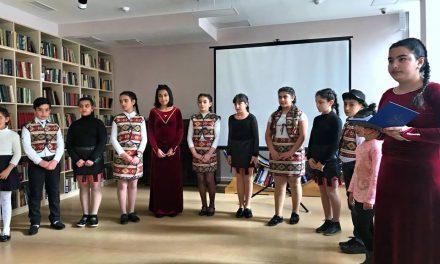Հովհ. Թումանյանի 150-ամյակին  նվիրված գրական -երաժշտական ցերեկույթ