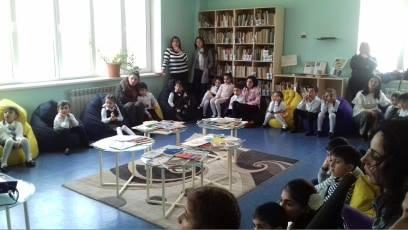 էլեկտրոնային գրադարան այցելեցին թիվ 13-րդ միջնակարգ դպրոցի I ,,Բ՛՛ դասարանի աշակերտները