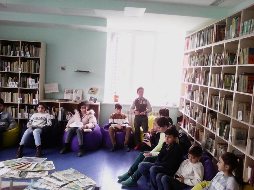 Էլեկտրոնային գրադարան այցելեցին թիվ 7 հիմնական դպրոցի V-րդ (14)