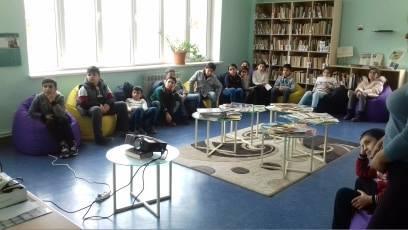 Էլեկտրոնային գրադարան այցելեցին թիվ 7 հիմնական դպրոցի V-րդ (5)