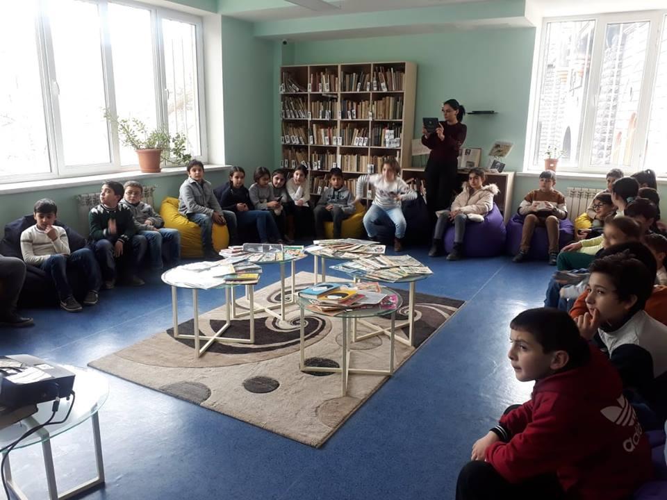 Էլեկտրոնային գրադարան այցելեցին թիվ 7 հիմնական դպրոցի V-րդ (9)